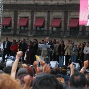 Protestas poselectorales del 2006 en el Zócalo del Distrito Federal